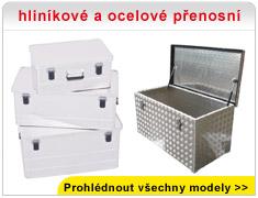 hliníkové a ocelové přenosní boxy