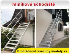 hliníkové schodiště