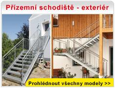 Přízemní schodiště - exteriér